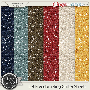 Let Freedom Ring Glitter Sheets