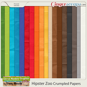 Hipster Zoo Crumpled Papers by Clever Monkey Graphics