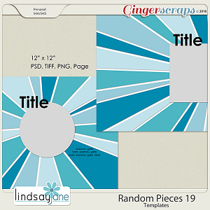 Random Pieces 19 Templates by Lindsay Jane