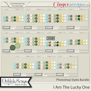 I Am The Lucky One CU Photoshop Styles Bundle