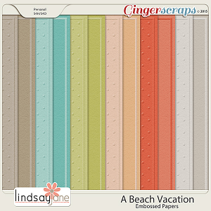 A Beach Vacation Embossed Papers by Lindsay Jane