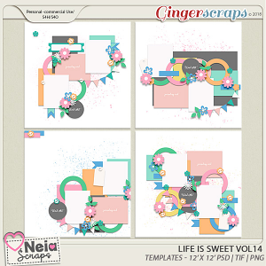 Life is Sweet 14 - Templates - By Neia Scraps