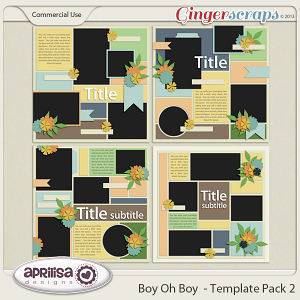 Boy Oh Boy - Template Pack 2