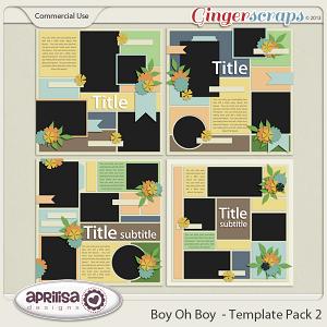 Boy Oh Boy - Template Pack 2