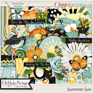 Summer Sun Digital Scrapbooking Kit