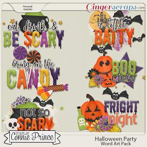 Halloween Party - WordArt Pack