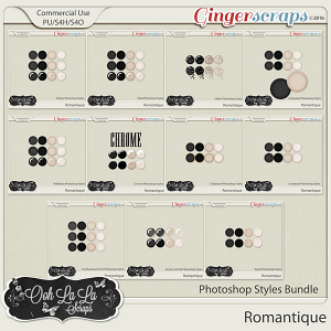 Romantique CU Photoshop Styles Bundle