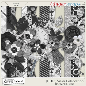 {HUES} Silver Celebration - Border Clusters