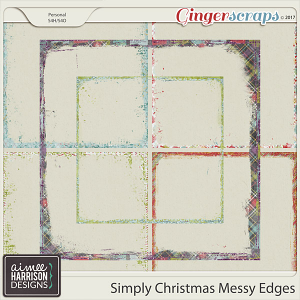 Simply Christmas Messy Edges by Aimee Harrison