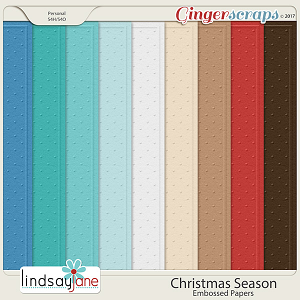 Christmas Season Embossed Papers by Lindsay Jane