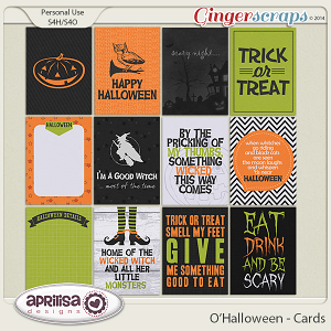 O'Halloween Cards by Aprilisa Designs