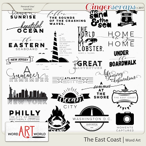 The East Coast Word Art