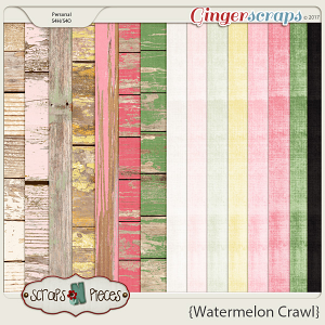 Watermelon Crawl - Cardstocks and Wood Papers