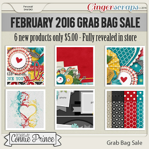 February 2016 Grab Bag - 3 Little Words