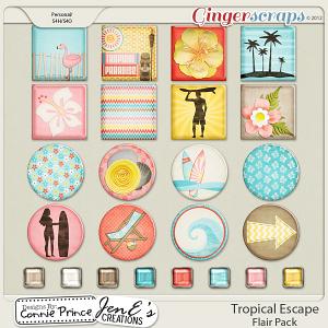 Retiring Soon - Tropical Escape - Flair Pack