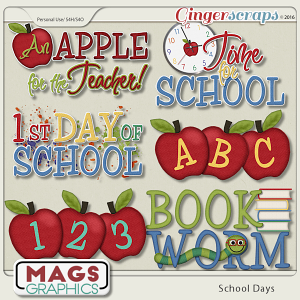 School Days WORD ART by MagsGraphics