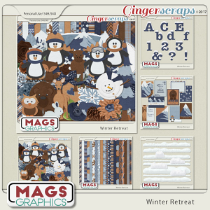 Winter Retreat BUNDLE by MagsGraphics