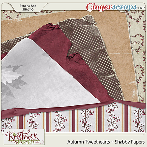 Autumn Tweethearts Shabby Papers