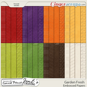 Garden Fresh - Embossed Papers