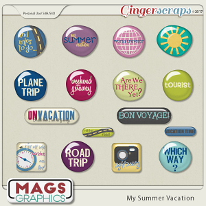 My Summer Vacation FLAIR by MagsGraphics