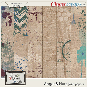 Anger & Hurt {kraft papers} by Little Rad Trio