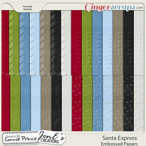 Santa Express - Embossed Papers