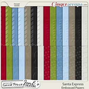 Santa Express - Embossed Papers