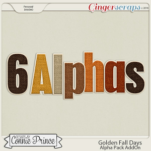 Golden Fall Days - Alpha Pack AddOn