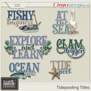 Tidepooling Titles by Aimee Harrison