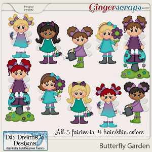 Butterfly Garden {Fairies Clipart} by Day Dreams 'n Designs