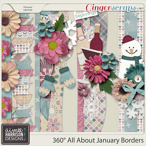 360° All About January Borders by Aimee Harrison
