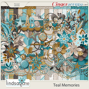 Teal Memories by Lindsay Jane