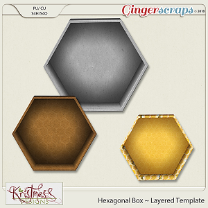 CU Hexagonal Box Layered Template