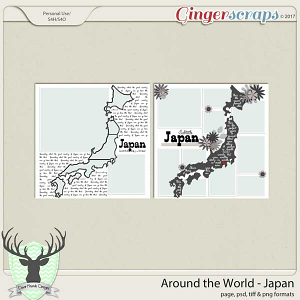 Around the World Countries: Japan Templates by Dear Friends Designs