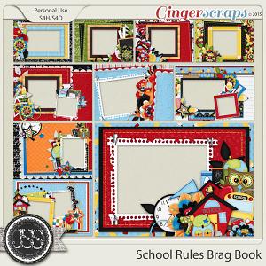 School Rules 5x7 Brag Book