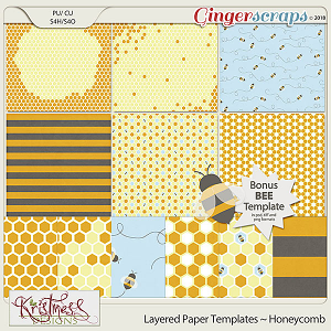 CU Layered Paper Templates ~ Honeycomb
