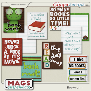 Bookworm JOURNAL CARDS