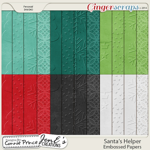 Santa's Helper - Embossed Papers