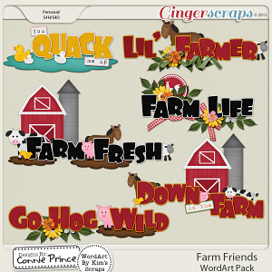 Farm Friends - WordArt
