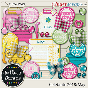 Celebrate 2018: May ACCENTS by Heather Z Scraps