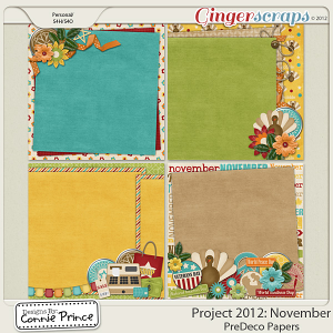 Retiring Soon - Project 2012: November - PreDeco Papers