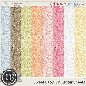 Sweet Baby Girl Glitter Sheets