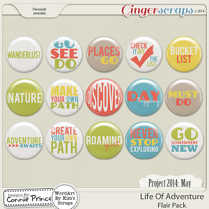Project 2014 May:  Life Of Adventure - Flair Pack
