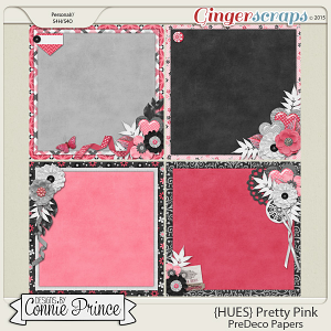 {HUES} Pretty Pink - PreDeco Papers