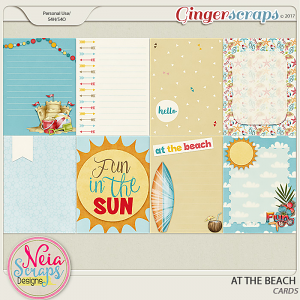 At The Beach - Cards - By Neia Scraps