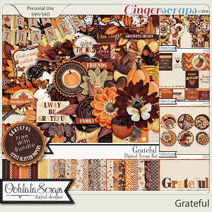 Grateful Digital Scrapbooking Bundle Collection