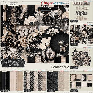 Romantique Digital Scrapbooking Collection