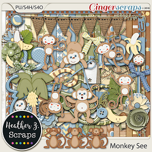 Monkey See KIT by Heather Z Scraps