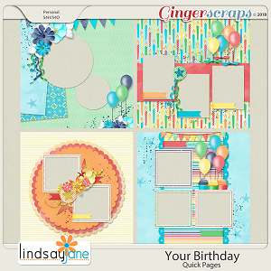 Your Birthday Quick Pages by Lindsay Jane