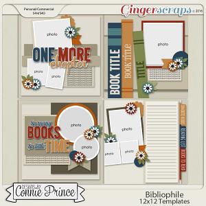 Bibliophile - 12x12 Templates (CU OK)